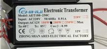 10pcs/lot High-quality 180W Electronic Transformer 220V-12V LED Halogen Light Bulb Lamp Power Driver Supply 3 year warranty!