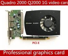 Quadro de alta qualidade 2000 1g gddr5 pci-e 16x placa gráfica profissional q2000 1 gb placa de vídeo