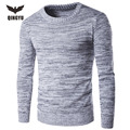 Pull Homme 2016 O-Neck Sweaters Knitted Long Sleeve Men Sweater Mens Solid Color Keep Warm Bottoming Sweaters Pullover XXL