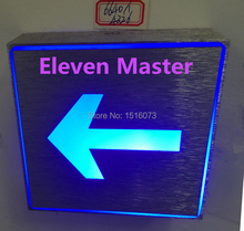 Direction Indicator lamp 3*1w led indicator lighting indoor or outdoor for Restraurant,KTV,Exit passageway