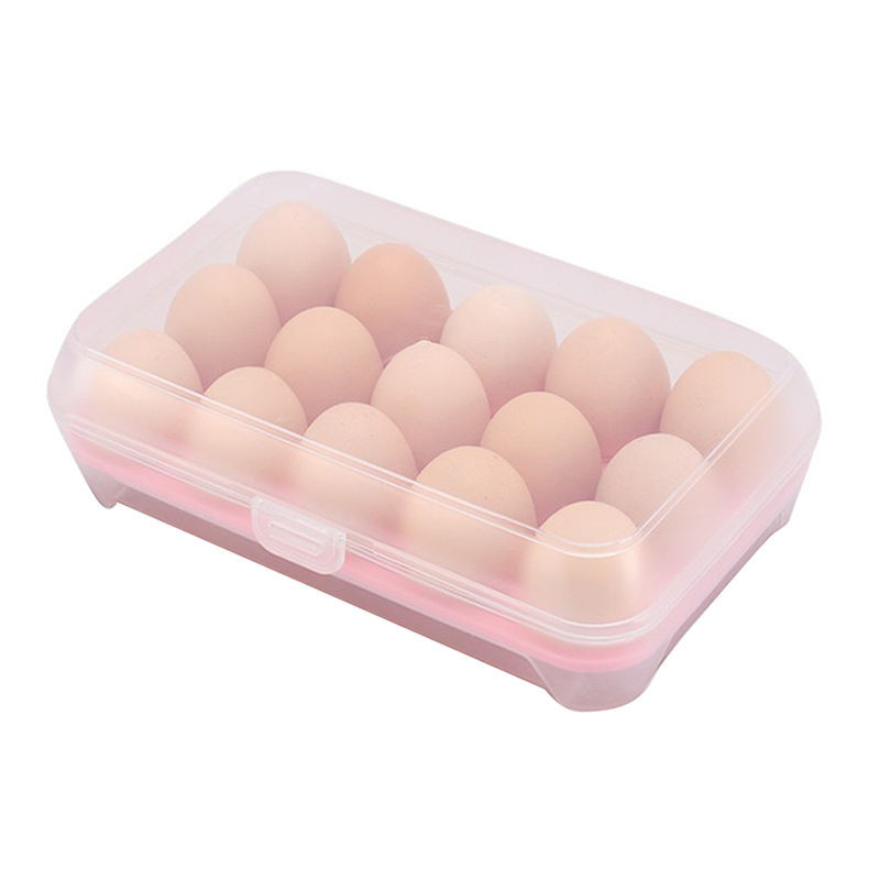 Useful Refrigerator Egg Storage Box 15 Eggs Holder Food Small Item Storage Container Case Cover Locks Tightl For Kitchen 23Jun 5