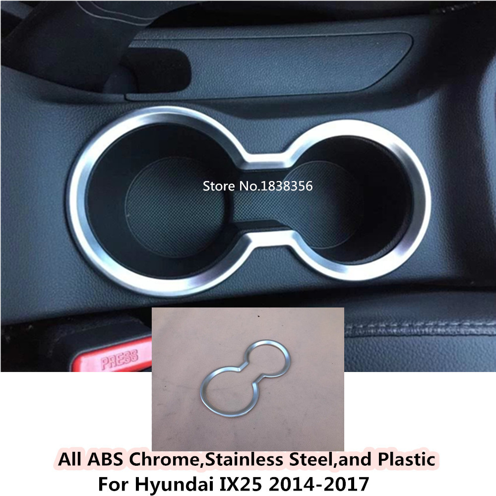 Car Cover Stick Abs Chrome Inner Middle Shift Stall Paddles Cup Lamp Trim Hoods 1pcs/set For Hyundai Ix25 2014 2015 2016 2017 Meticulous Dyeing Processes Exterior Parts Auto Replacement Parts