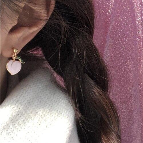 Twp Kawaii Peach Earring 2