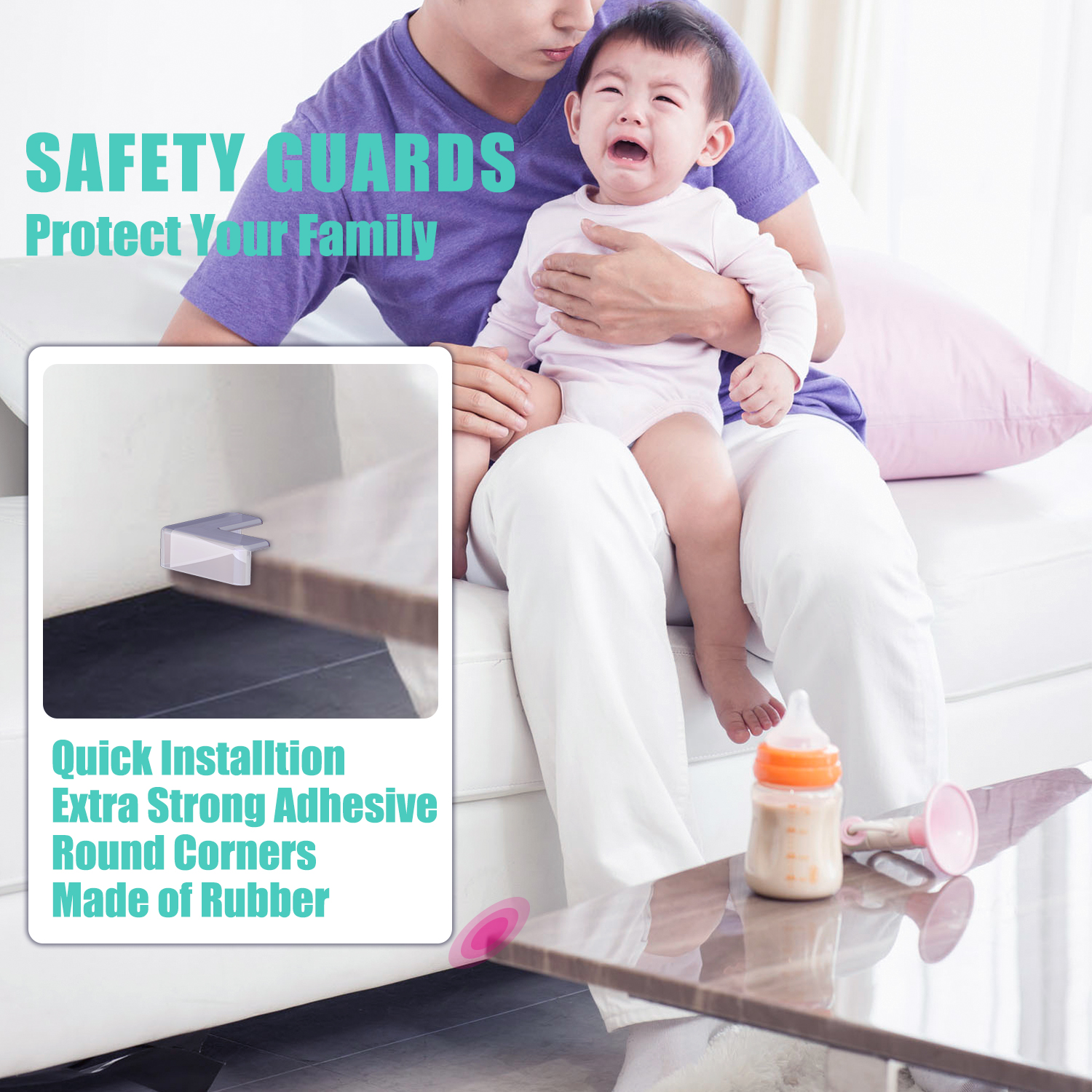 5pcs Table Desk Corner Edge Angle Cover Guards Safe Protector Baby Children Infant Safety Protection Baby Kids Protection