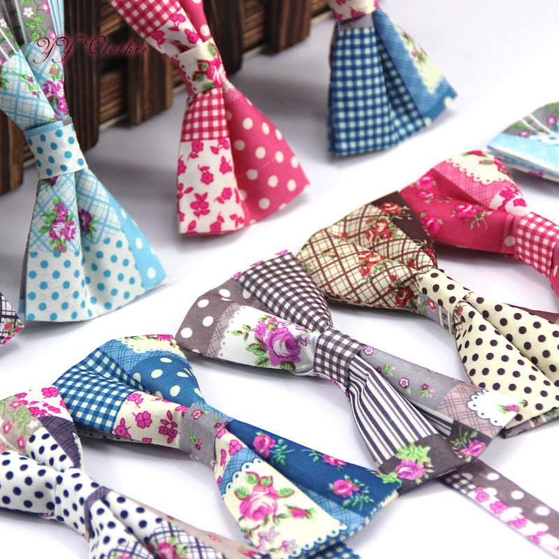 Dot Check Fashion Bowties Groom Normal Men's Printed Cravat For Men Butterfly Gravata Male Marriage Wedding Bow Ties Butterfly
