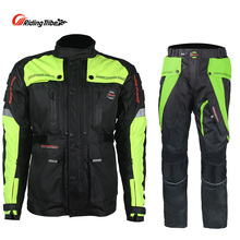 Men Motorcycle Jacket + Motorcycle Pants Set Winter Waterproof Full Protection Jacket Moto Pants Suit Clothing Protective Gear professional five pieces set sanda protective gear full set flanchard head protection
