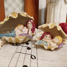 Art Creative Cute Mermaid Home decor crafts Animals resin Figurines fairy garden miniatures statue fish tank tabletop
