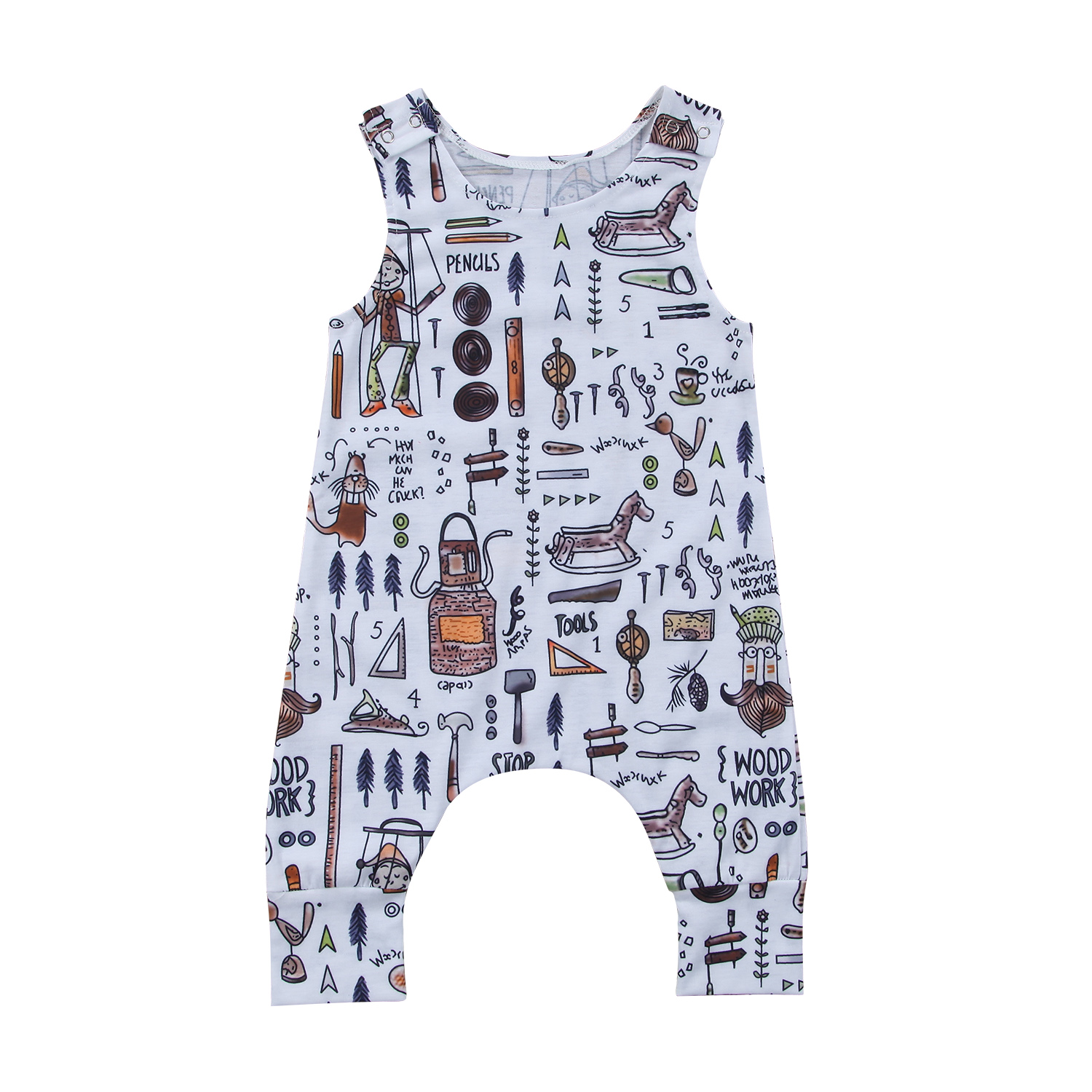 Hot Sale Infant Baby Boys Girls Romper Baby Clothing Summer
