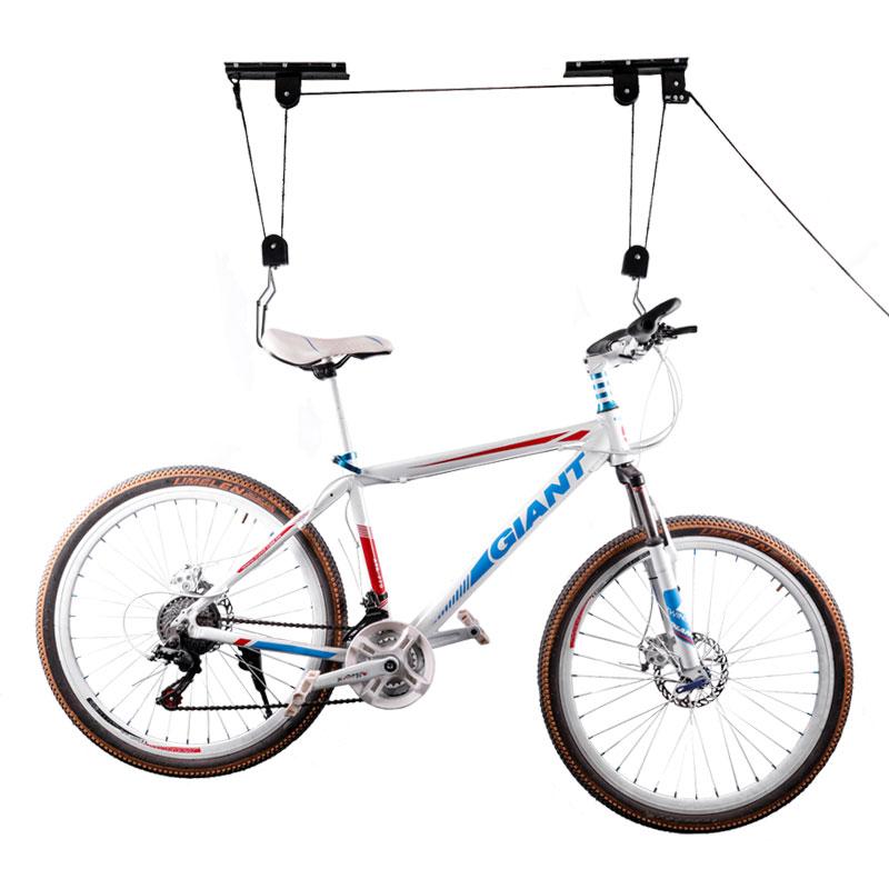 2x Bike Lift Rack w Ceiling Rail Mounting Bike Rack Hanger Bike /& Ladder Lift