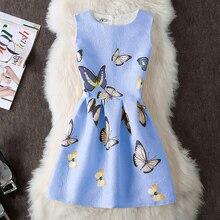 Robe Femme ete 2018 Slim Dress Elegant Butterfly Floral Pattern Girlish Dresses Lovely Cute Summer Short