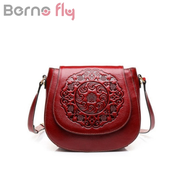 f7b01bc7d2be Berno Fly Brand New Vintage Genuine Leather Bags Saddle Women