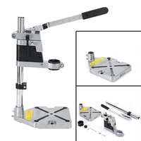 Electric Drill Stand Bench Drill Press Stand Double Clamp Base Frame Drill Holder with Drill Press Vice Tools