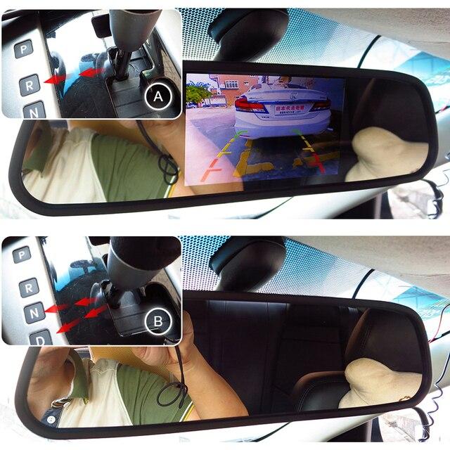 GreenYi 5 بوصة سيارة مرآة الرؤية الخلفية مع رصد ل 170 زاوية سيارة كاميرا الرؤية الخلفية HD سوني TFT LCD نظام صف سيارات 5