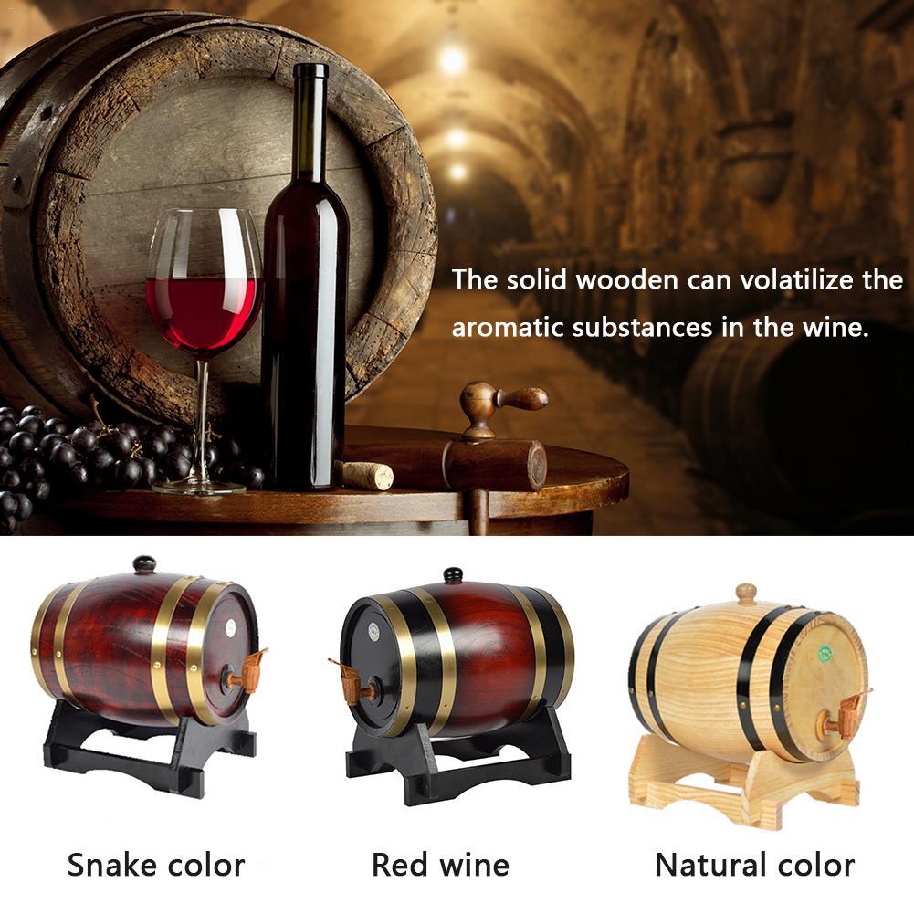 1.5L Oak Pine Wine Barrel Wine Storage Special Barrels Bucket Beer Casks For Brandy Whiskey Bar Household Wine Barrel Storage