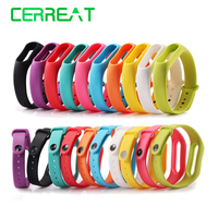1 PCS Silicone Replace Belt Strap For Xiaomi Mi Band 2 Smart Wristband Band Bracelet For MI Smart Wristband 2 Wearable Wrist