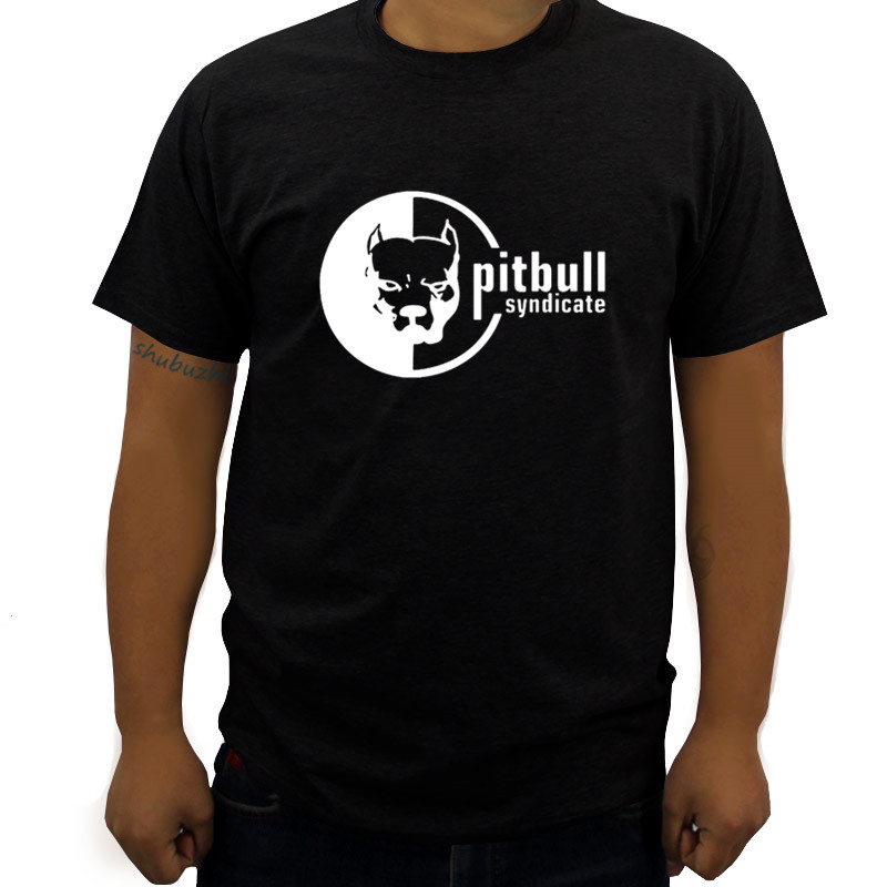 t-shirt man fashion brand tees pitbull syndicate design cool white t-shirt men's t shirt tshirt tops male top tees drop shipping