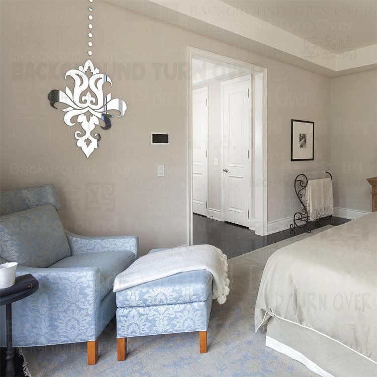 creativo estilo europeo araa de cristal espejo decorativo etiqueta de la pared para el dormitorio comedor
