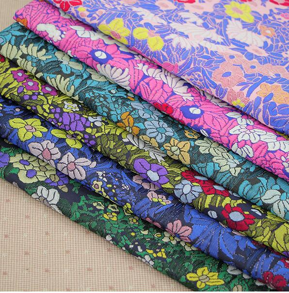 Crafts Materials Brocade Fabric Upholstery For Furniture Hand Diy Bag Yarn Dyed Wind