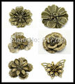 Free shipping-30Pcs Mixed Antique Bronze Filigree Wraps DIY Connectors Embellishments Jewelry Findings M01297