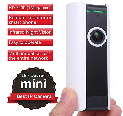 Mini HD 720P Wireless WiFi IP Security Camera Panoramic Wide angle 185 degree Night Vision P2P