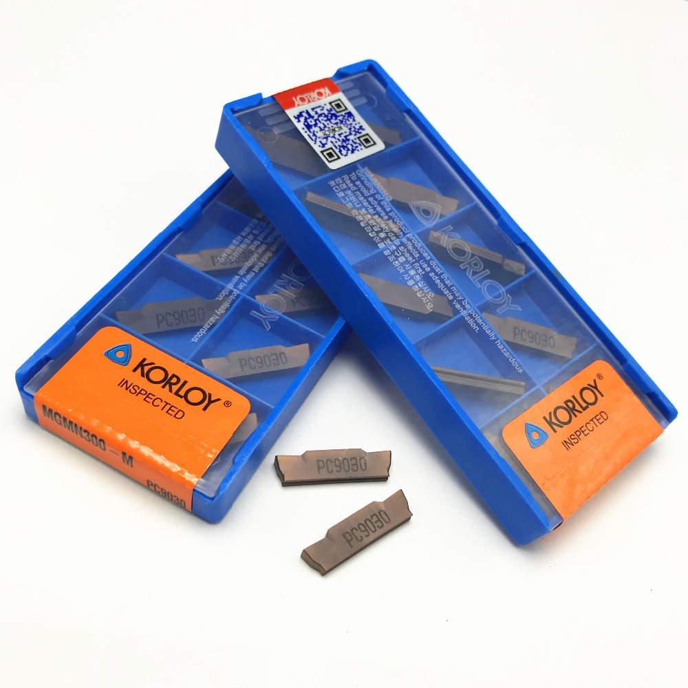 MGMN150 MGMN200 MGMN300 PC9030/NC3020/NC3030 korloy grooving carbide inserts CNC lathe cutter turning tool(China)