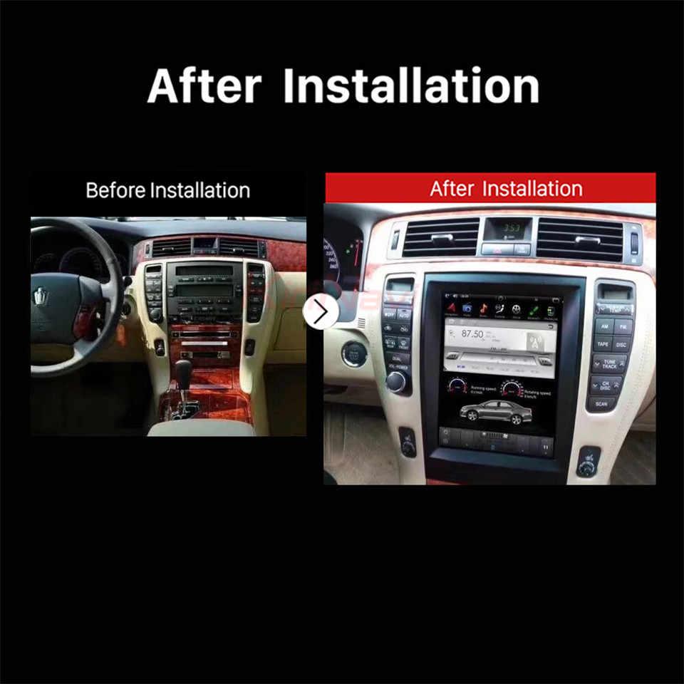 KiriNavi Vertical Screen Tesla Style Android 7.1 12.1 Inch Car Radio For Toyota Crown Navigation Gps Multimedia 64g 2008-2012