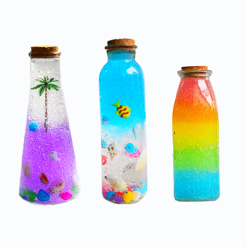 3ebcefd276d0 US $10.21 10% OFF|1Pcs Clear Glass Bottles With Cork Stopper Decorative  Jars Containers Diy Wishing Bottle For Wedding Decor-in Bottles, Jars &  Boxes ...