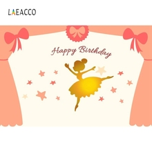 Laeacco Baby Party Bow Tie Gold Dancing Ballet Girl Photography Backgrounds Customized Photographic Backdrops For Photo Studio