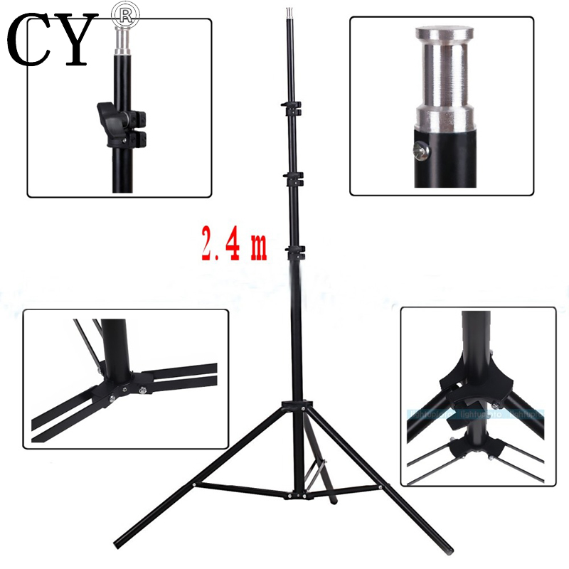 Lightupfoto 240CM 7.8ft PROFESSIONAL Light Lamp Stand Tripod for Photo Studio Video Flash Umbrellas Reflector Lighting PSS1D