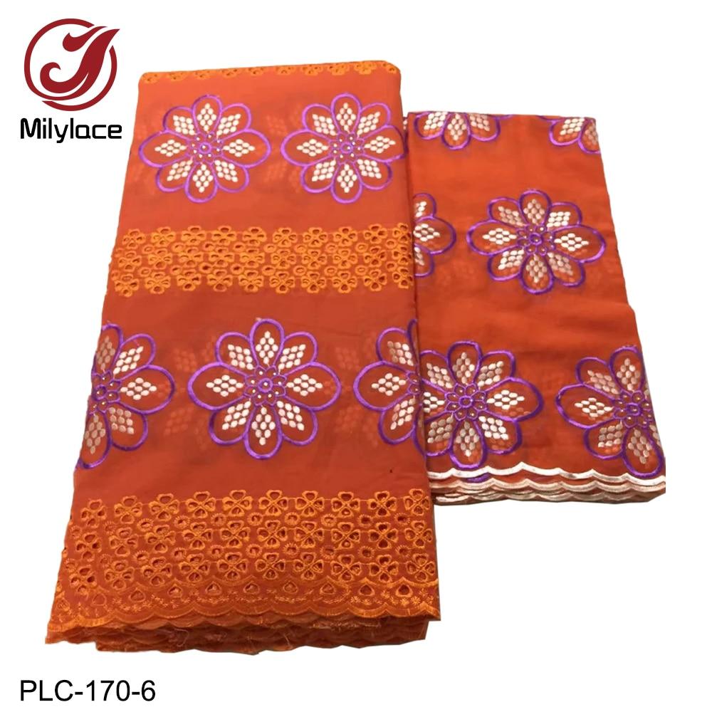 Skin Friendly Swiss Cotton Lace Fabric 5 Yards+2 Yards