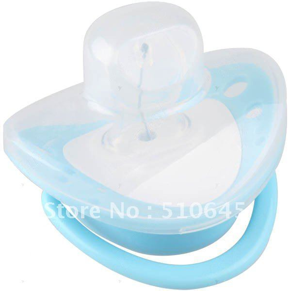 Blue Water Resistant Anti-Bacterial Disposable Heart-Shaped Digital LCD Baby Infant Temperature Nipple Thermometer - 205036