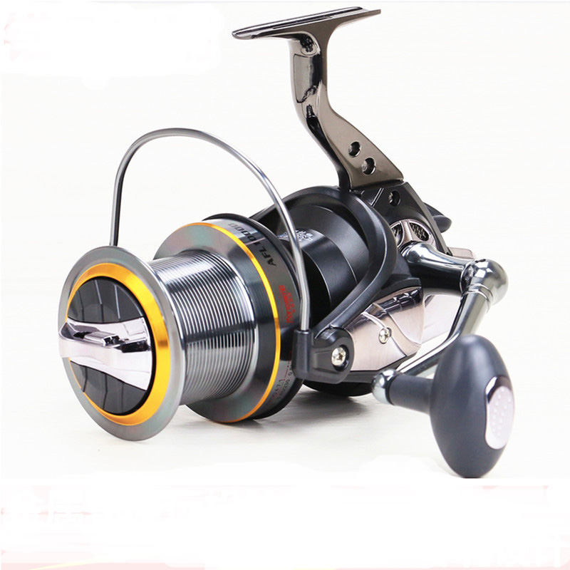 Fishing Reels Long Shot Casting Big Size 8000-12000 Front Drag Spinning Reel 11 Bearing Anchor Hook CNC Rocker Arm modern semi circular glass shade pendant lamp led edison bulb pendant light fixture for kitchen lights dining room bar e27 220v