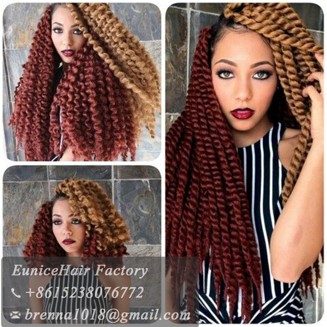 2016 Synthetic Hair Crochet Braids Havana Twist Blonde Hair