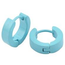 316 сталь ювелирные изделия серьги дизайн синий окрашенный мужские хомут huggie серьги 4 мм * 9 мм ювелирные изделия