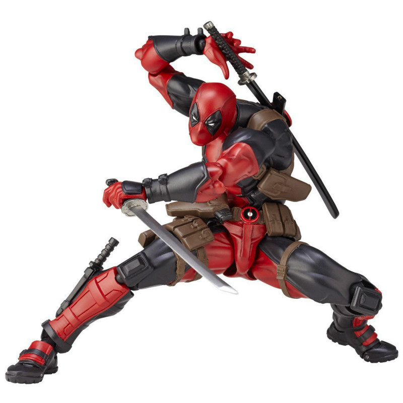 16cm X-Men Deadpool Variant Movable Super Heroes PVC Action Figures Model Dead Pool with Weapons Kids DIY Gift Toys 26cm x men single toys deadpool figure play arts dead pool collection model doll toy christmas gifts super heroes action figures