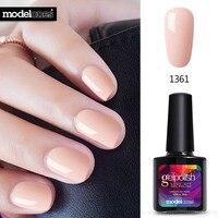 Modelones Newest Pink Color Nail Polish UV Led Long Lasting Nail Gel Polish DIY Nail Art Gel Lacquer Professional UV Gel Nail