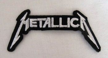 METALLICA White Black Embroidered Iron OnSew On Patch Rock Band COSTUME PATCH EMBLEM, Free shipping