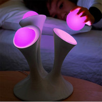 Trecaan Mushroom Nightlight Glowing Balls LED Lamps Color Changing Night Light With AU EU UK US
