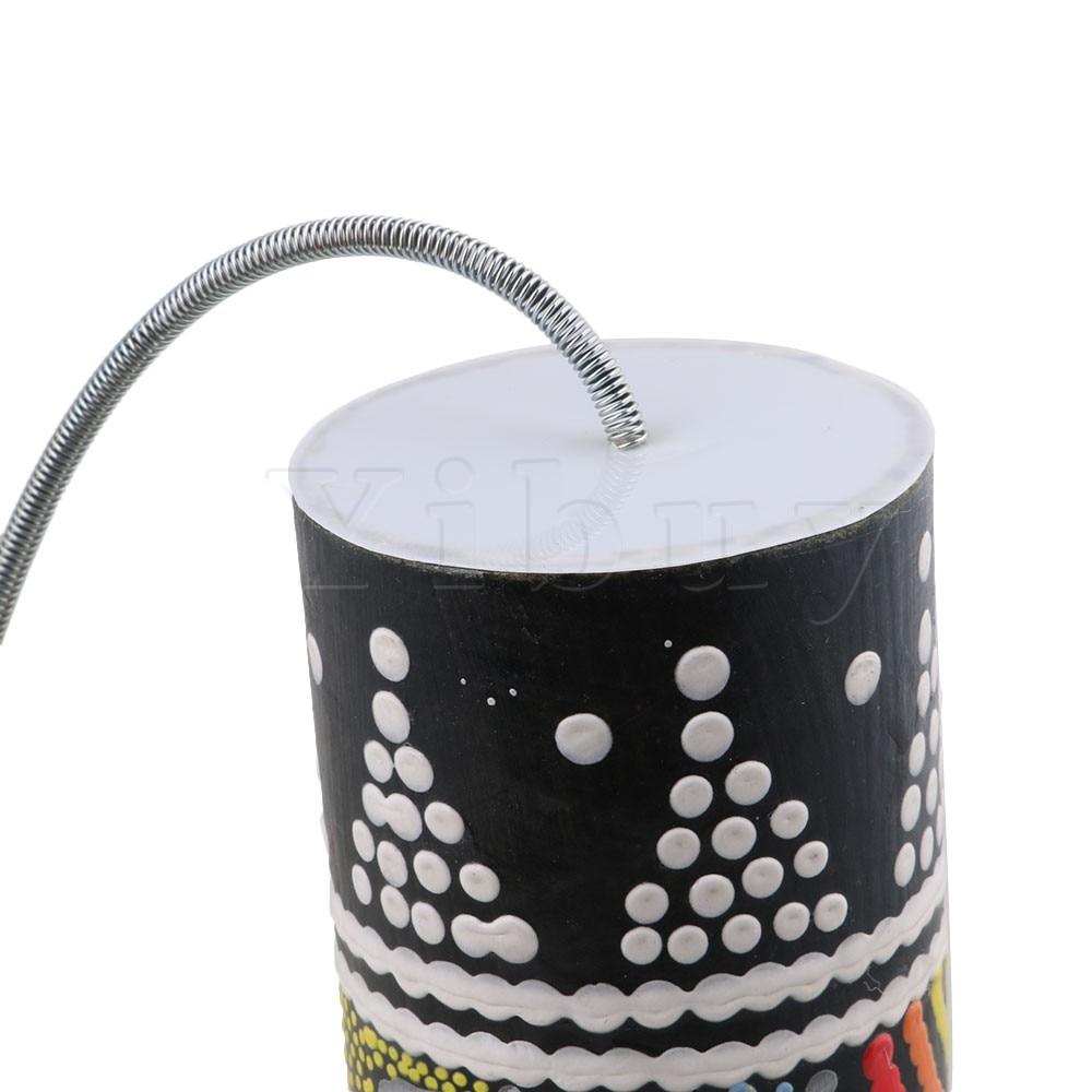 Yibuy 20x6cm Wood Spring Drum Shaker Thunder Tube Sound