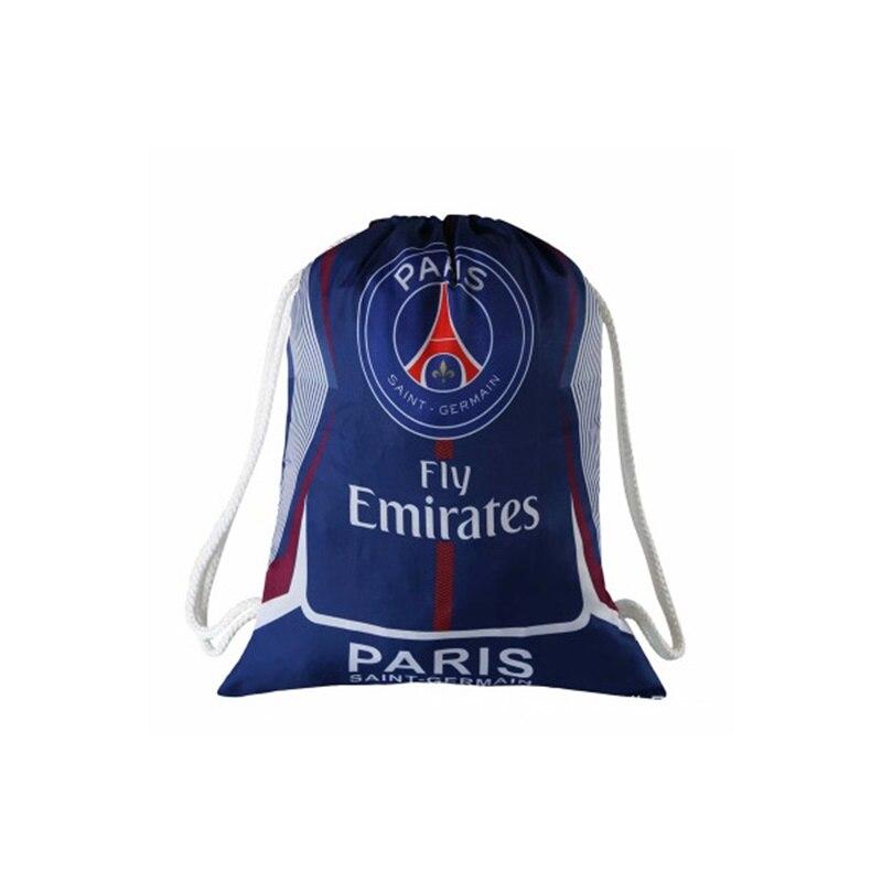 Paris Saint Germain Football Clubs Swerve Gym Bag Soccer Drawstring Backpack Drawstring Sport Bag for Soccer