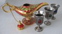 Collectible Genie Oil Lamp Genie Oil In The Wine 3pcs Russian 1 Tea Pot Al Addin