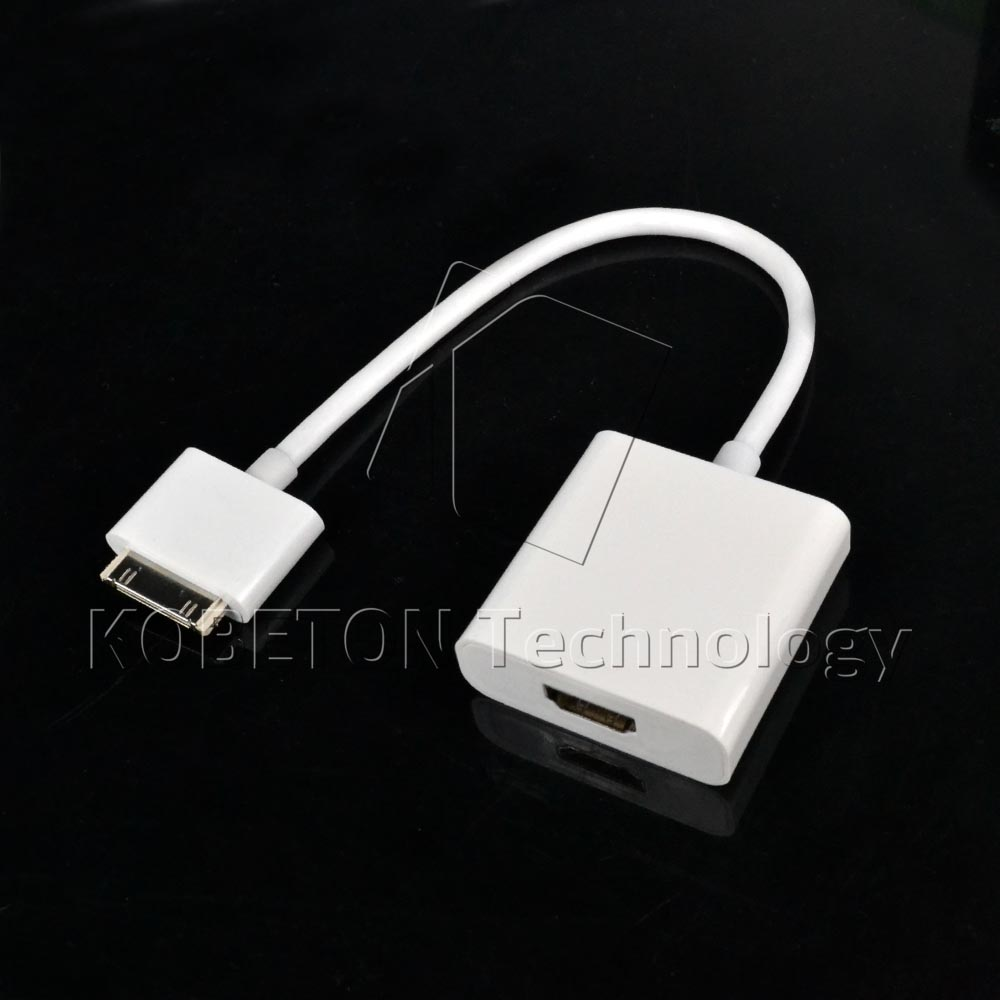 1080P Dock Connector To HDMI HDTV TV Adapter AV Cable For i Pad 2 3 i Phone 4S 4