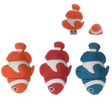 retail cute cartoon finding nemo funny clown fish usb flash drive pen drive memory stick u disk 4gb 8gb 16gb 32gb pendrive