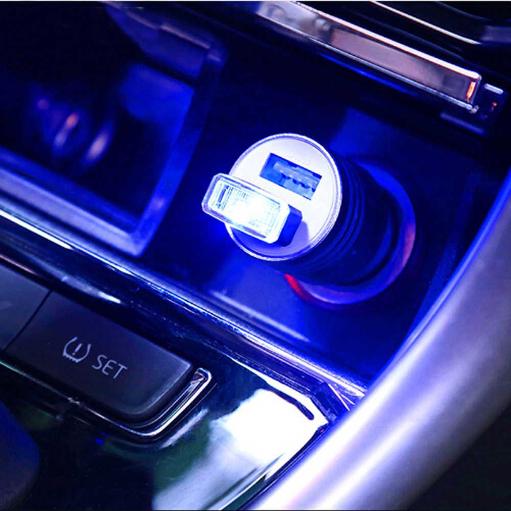 Coche Universal USB LED luz decorativa piezas de automóviles para mitsubishi lancer hyundai i30 mini cooper tucson cívica volkswagen se