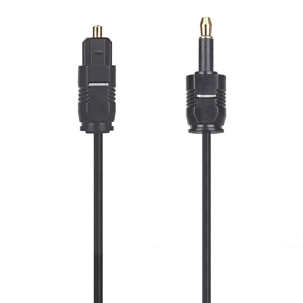 Оптический аудио кабель-адаптер Mini Toslink 3,5 для цифрового звука Opt 3,5 мм SPDIF кабель для Macbook 1 м