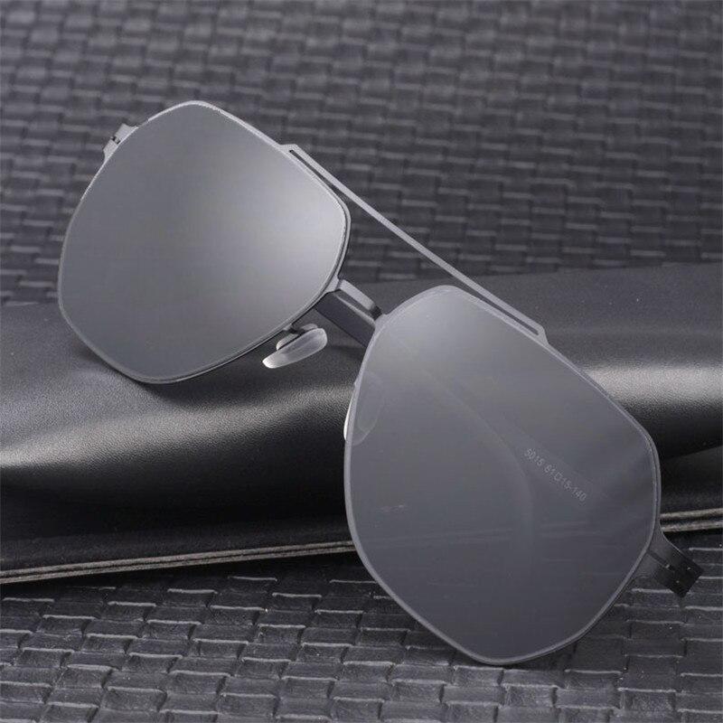 Vazrobe 150mm surdimensionné lunettes de soleil hommes polarisé sans vis Ultra-léger HD Polaroid lentille lunettes de soleil pour homme conduite Anti-reflet