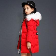 Kids Winter Coat Girls 2016 New Brand Fashion Children Warm Thick Down Jacket Boys Winter Coat Hooded letter Down Parka 120-170