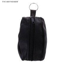 THINKTHENDO Fashion Men Women Girls Key Ring Wallet Coin Card Mini Purse Zipper Small Change Bag High Quality