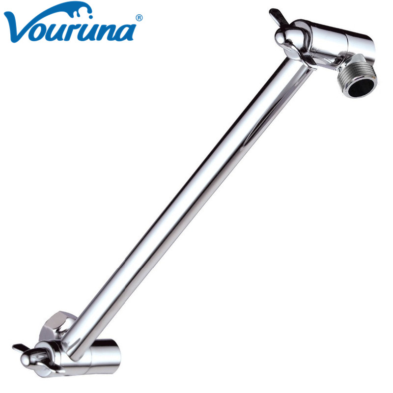 10 Inch Brass Shower Arm Extender Hardwar Adjustable Shower Head Extension Arm