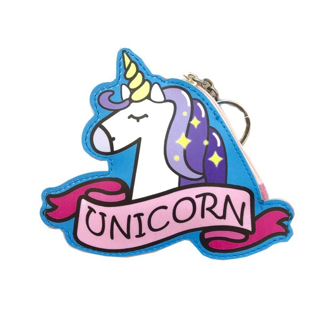 Cartoon Animal Unicorn Coin Purse Girls Small Mini Change PU Leather Wallet Purse Women Key Wallet Coin Bag Children Kids Gifts